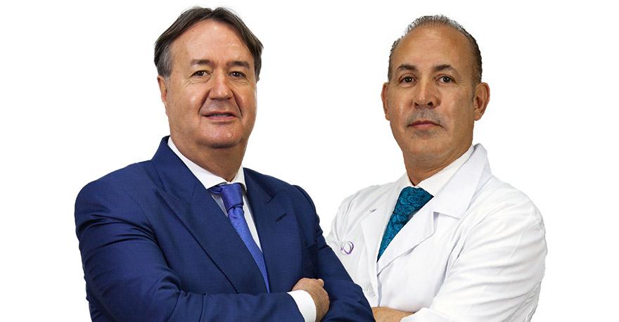 Doctor Angel Martín y Ramón López Saucedo