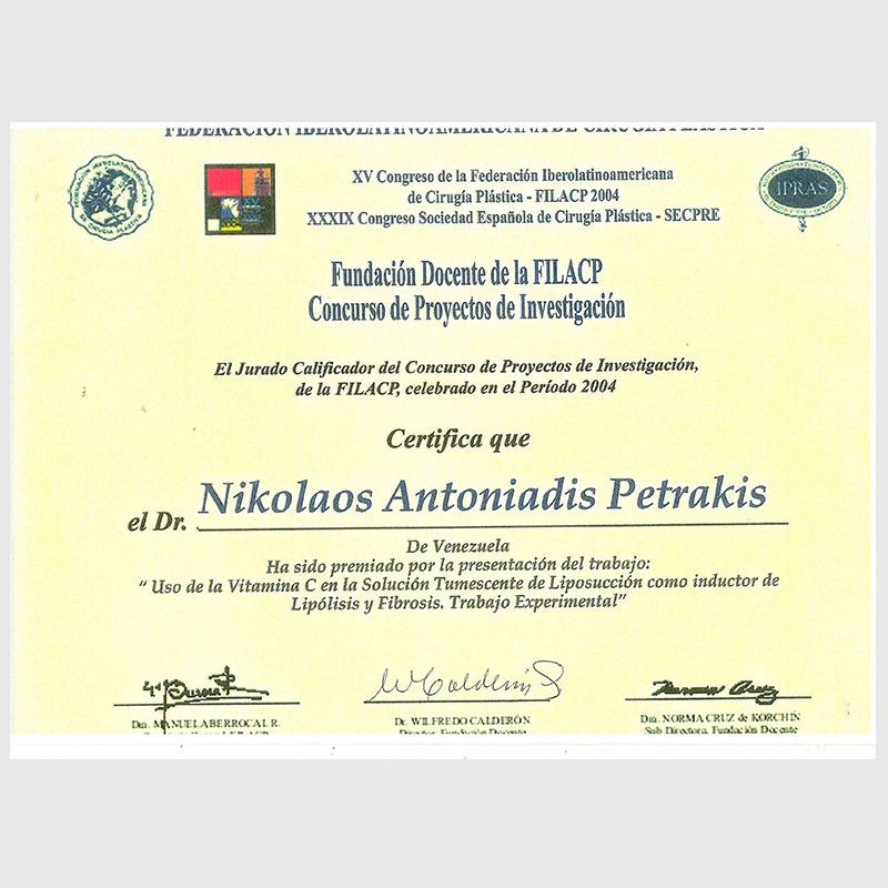Dr Nikolaos Antoniadis Cl 237 Nica Menorca