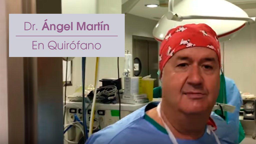 Doctor Ángel Martín en el Quirófano de una Lipo