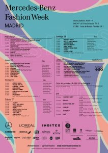 Calendario Mercedes-Benz Fashion Week en Madrid 2018