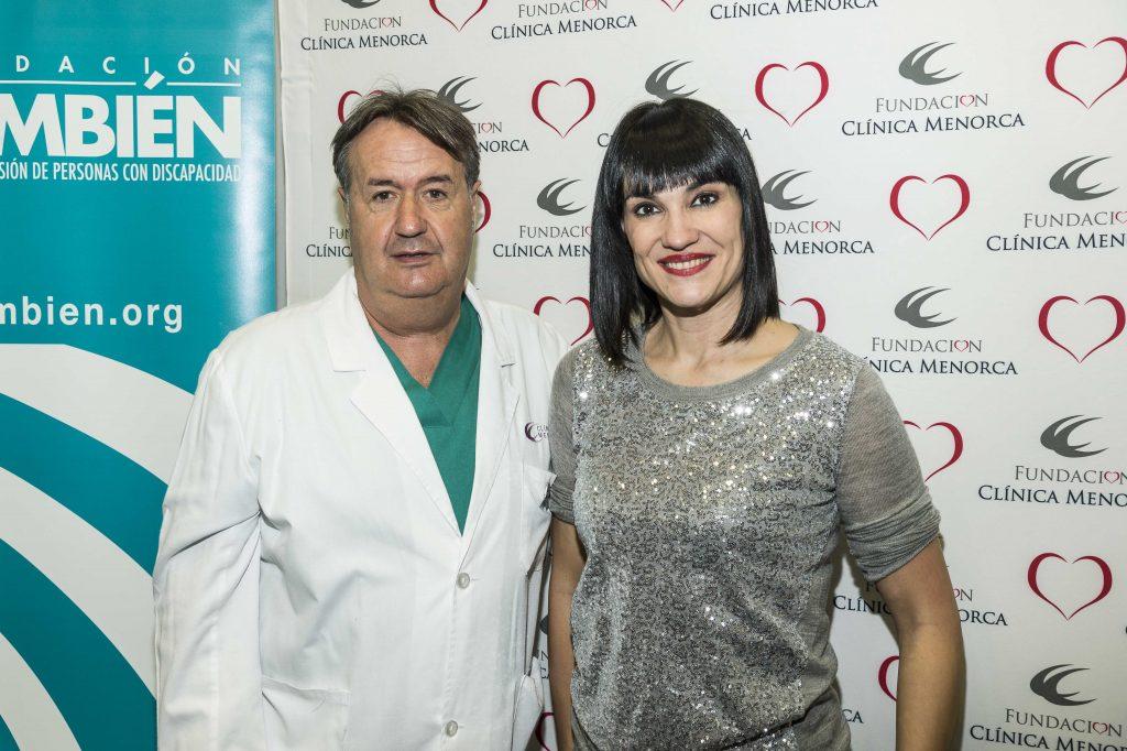 Irene Villa y Dr Martin de Clinica Menorca