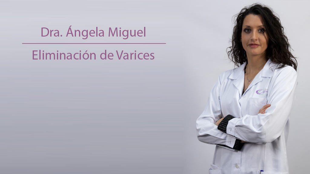 Especialista en eliminación de varices Ángela Miguel