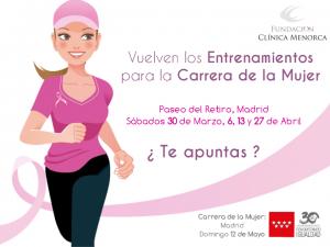Entrenamientos Clínica Menorca para carrera de la mujer